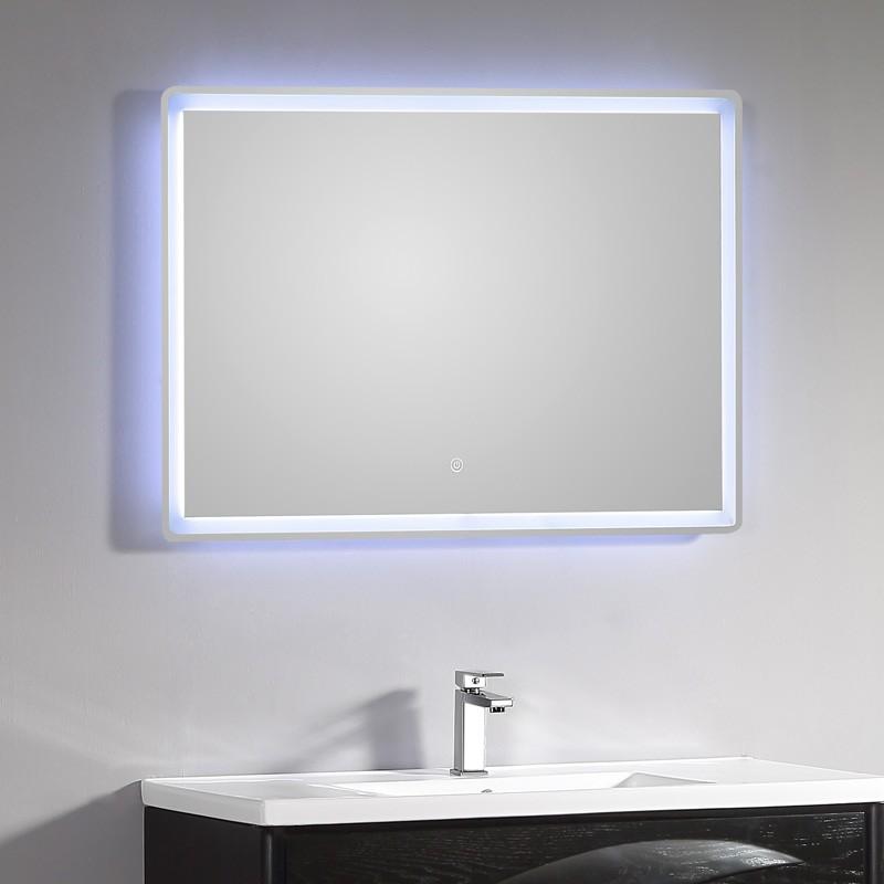 Miroir Lumineux Salle De Bain Led 115 X 66 Cm Avec Bouton Sensitif