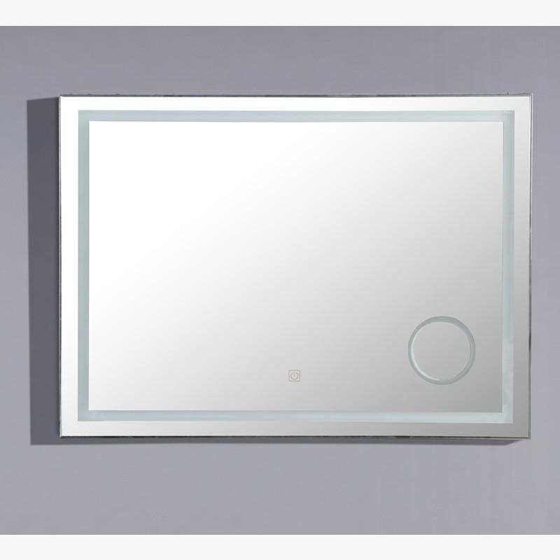 Miroir Led Zoom 120 Cm Salle De Bain Avec Loupe Retroeclairee