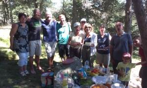 Oběd s přáteli na Svatojakubské poutní cestě
