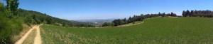 Panorama s výhledem na Rhonu