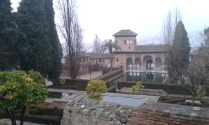 Vodní lázně v zahradách pevnosti Alhambra ve španělském městě Granada