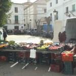 Trh v obci Albánchez ve španělské Andalusii v regionu Almería