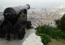 Kanonová střílna na Gibraltaru