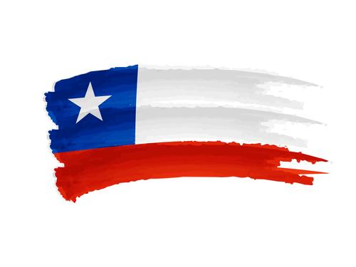 Chilská vlajka před cestou do Chile.