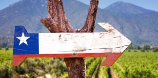 šipka ukazující směr do Chile