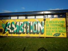 Motivační nápis z Bristolu