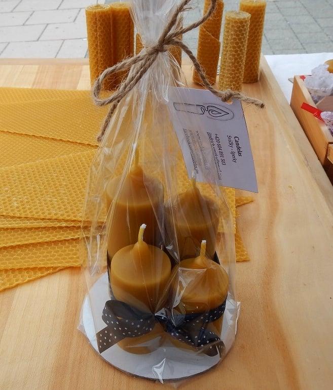 Adventní svíčky ze včelího vosku - sada