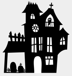 haunted clipart spooky house halloween haunted house silhouette [ 920 x 1080 Pixel ]