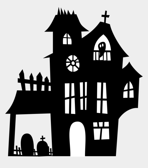 small resolution of haunted clipart spooky house halloween haunted house silhouette