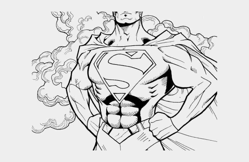 Drawn Superman Superwoman Halloween Superhero Coloring Pages Cliparts Cartoons Jing Fm