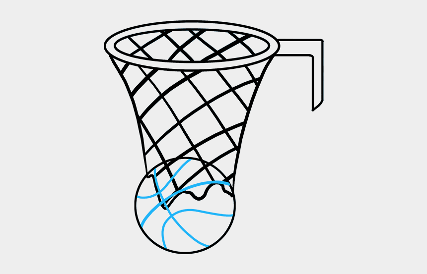 How To Draw Basketball Hoop Drawing Of A Basketball Net Cliparts Cartoons Jing Fm