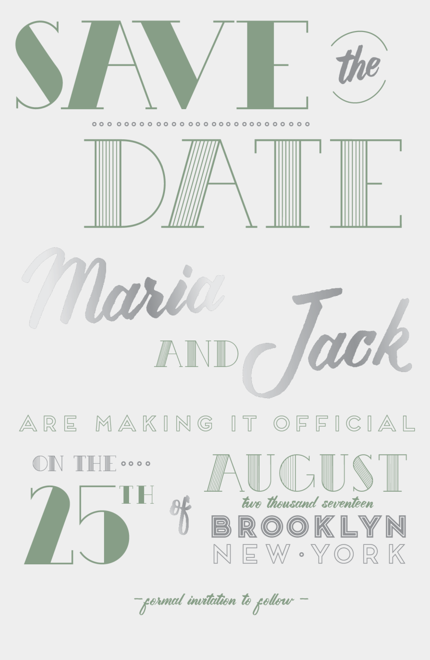 typography vector save the date