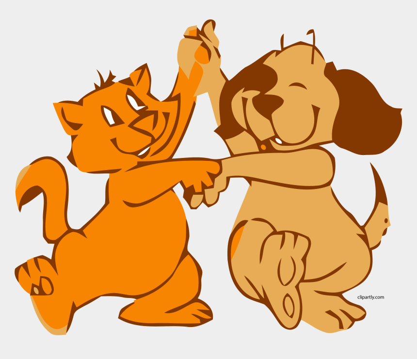dog cat dance clipart