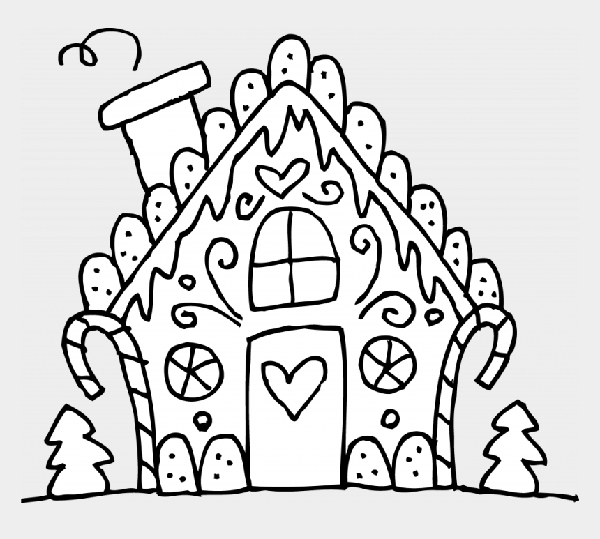 Christmas Coloring Pages Printable Gingerbread House Cliparts Cartoons Jing Fm
