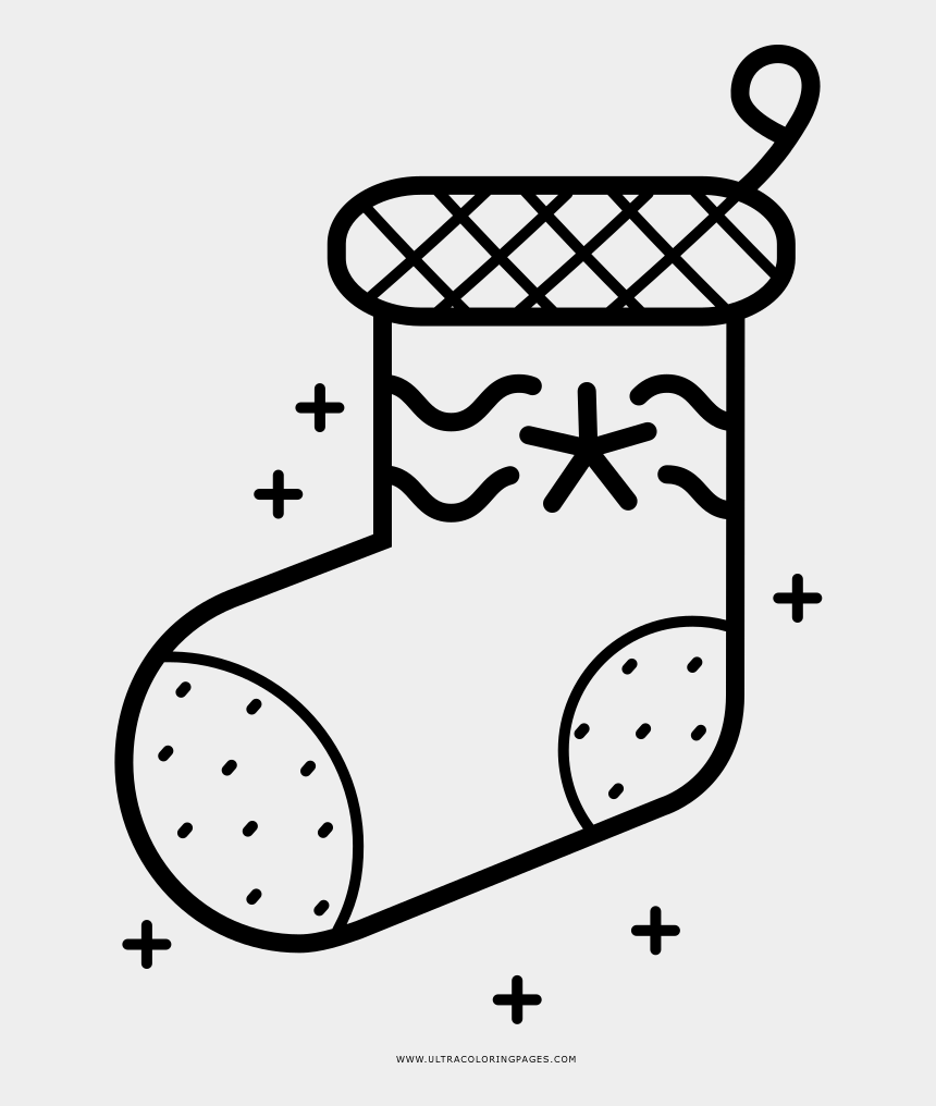 Christmas Stocking Coloring Page Line Art Cliparts Cartoons Jing Fm