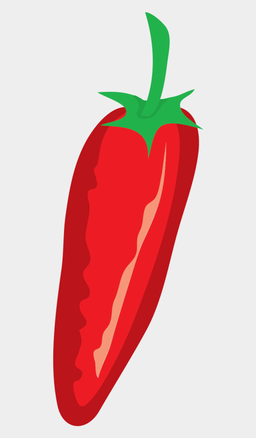 small resolution of red pepper vector clip art