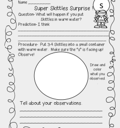 First Grade Wow - Skittles Science Experiment Worksheet [ 1212 x 860 Pixel ]