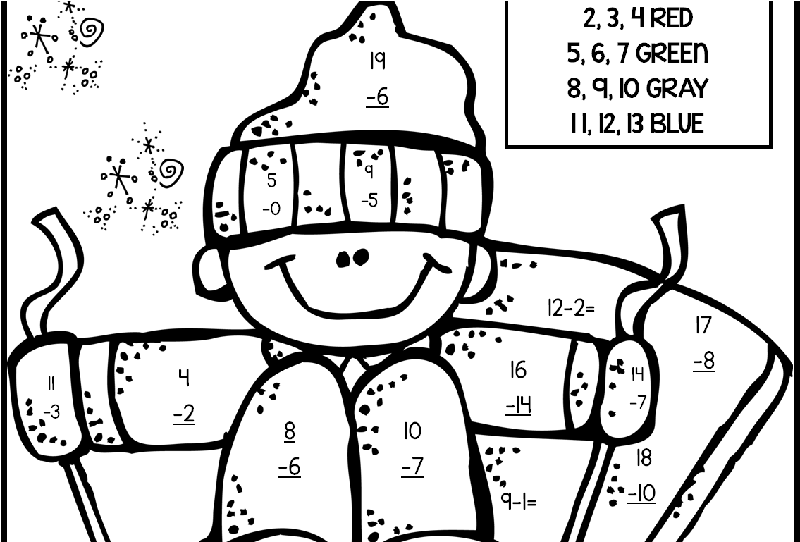 hight resolution of 2nd Grade Coloring Pages Math Fall Fraction Christmas - Math Worksheets  Coloring For Grade 3 Multiplication