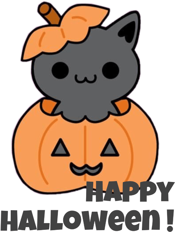 Tons of awesome halloween cat wallpapers to download for free. It S So Cute But It Says Happy Halloween Think Cute Cat Wallpaper Cartoon Transparent Cartoon Jing Fm