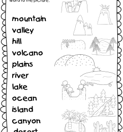Landforms For Kids Activities And Lesson - 1st Grade First Grade Social  Studies Worksheets  [ 1523 x 1149 Pixel ]