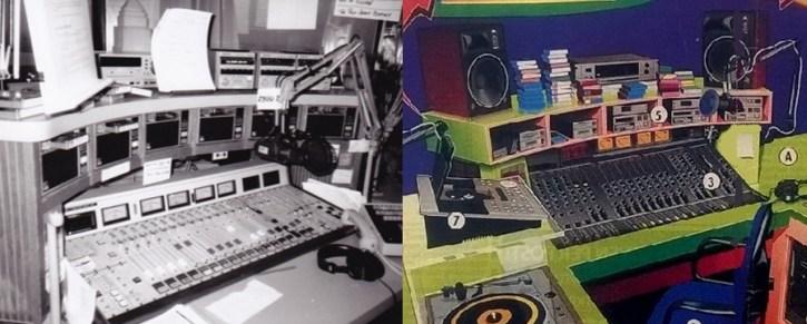 Vergelijking van de Veronica studio met die van Z100