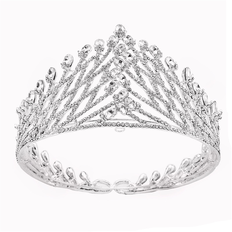 New Fashion White Whole Rhinestones Crown, China New