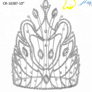 8 Inch Tall King Pageant Rhinestone Crown, China 8 Inch