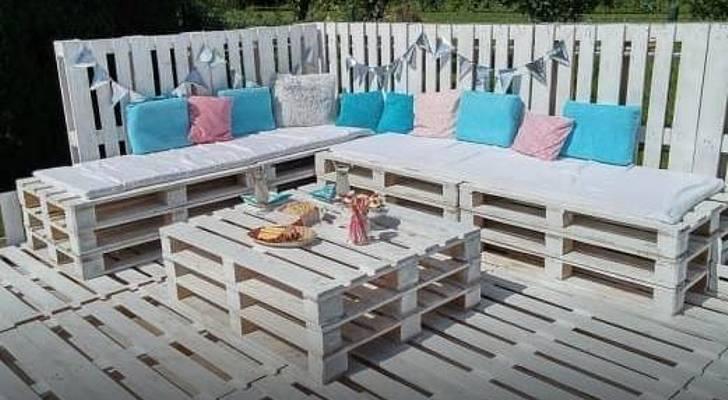 Salon de jardin en palette mode demploi  Jardin piscine et Cabane