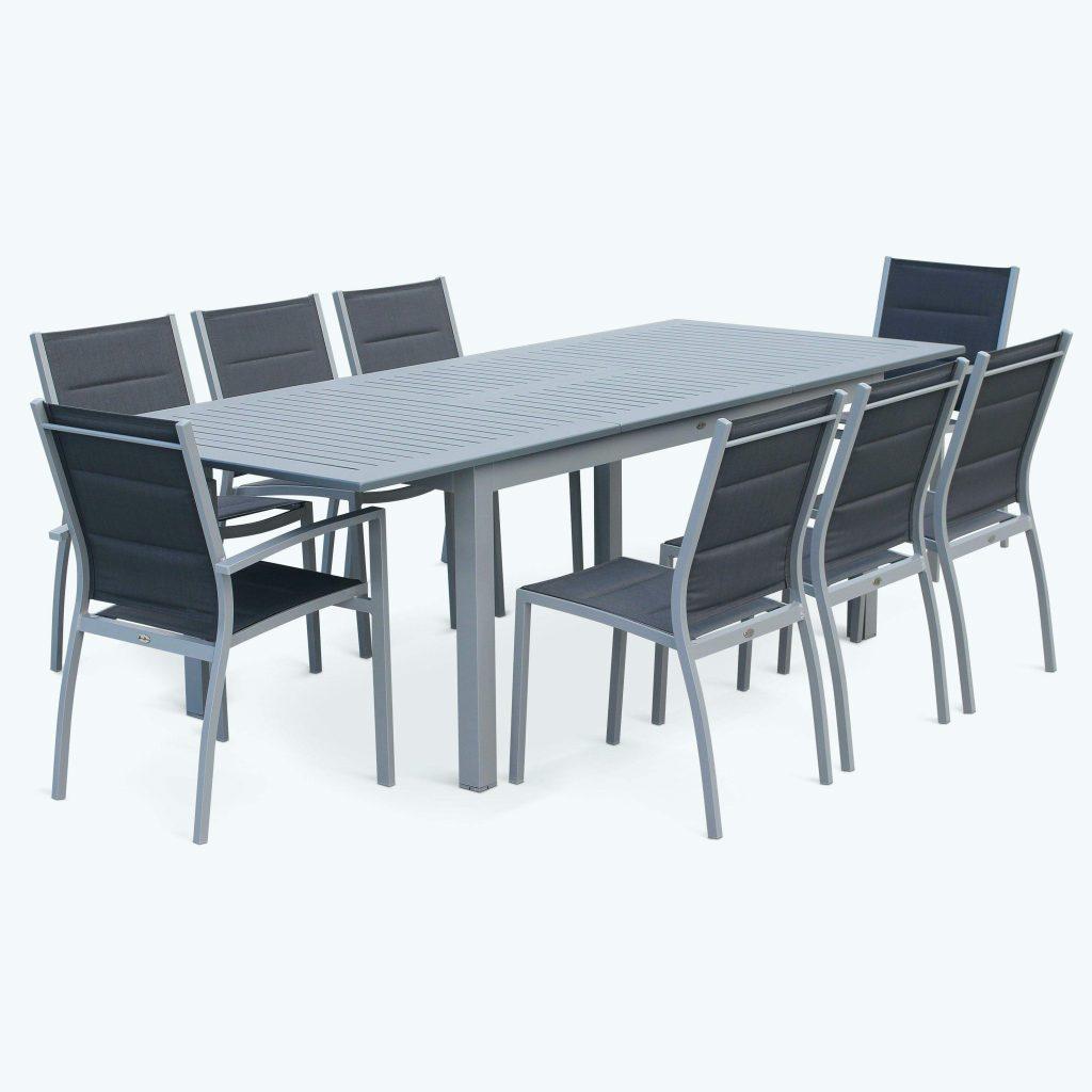 Salon de jardin table extensible aluminium  Jardin piscine et Cabane