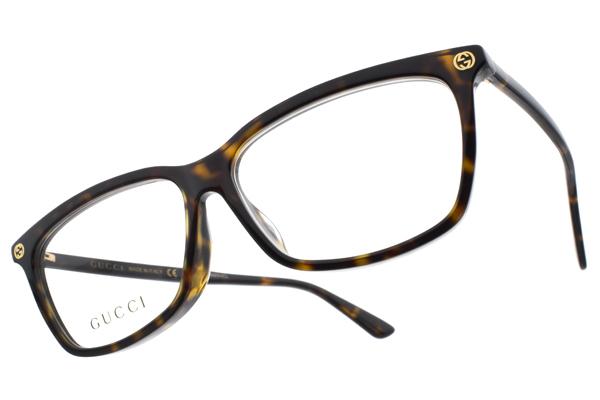 GUCCI 光學眼鏡 GG0042OA 002 (琥珀) 熱銷經典LOGO款 眼鏡框 # 眼鏡品牌 - 金橘眼鏡