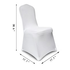 White Folding Chair Covers Ebay Unique Chairs 100pcs Stretch Spandex Seat