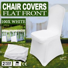 Stretch Chair Covers Timber Ridge Zero Gravity Patio Lounge Oversize Xl 100pcs Spandex White For Wedding Party Banquet Details About Decoration