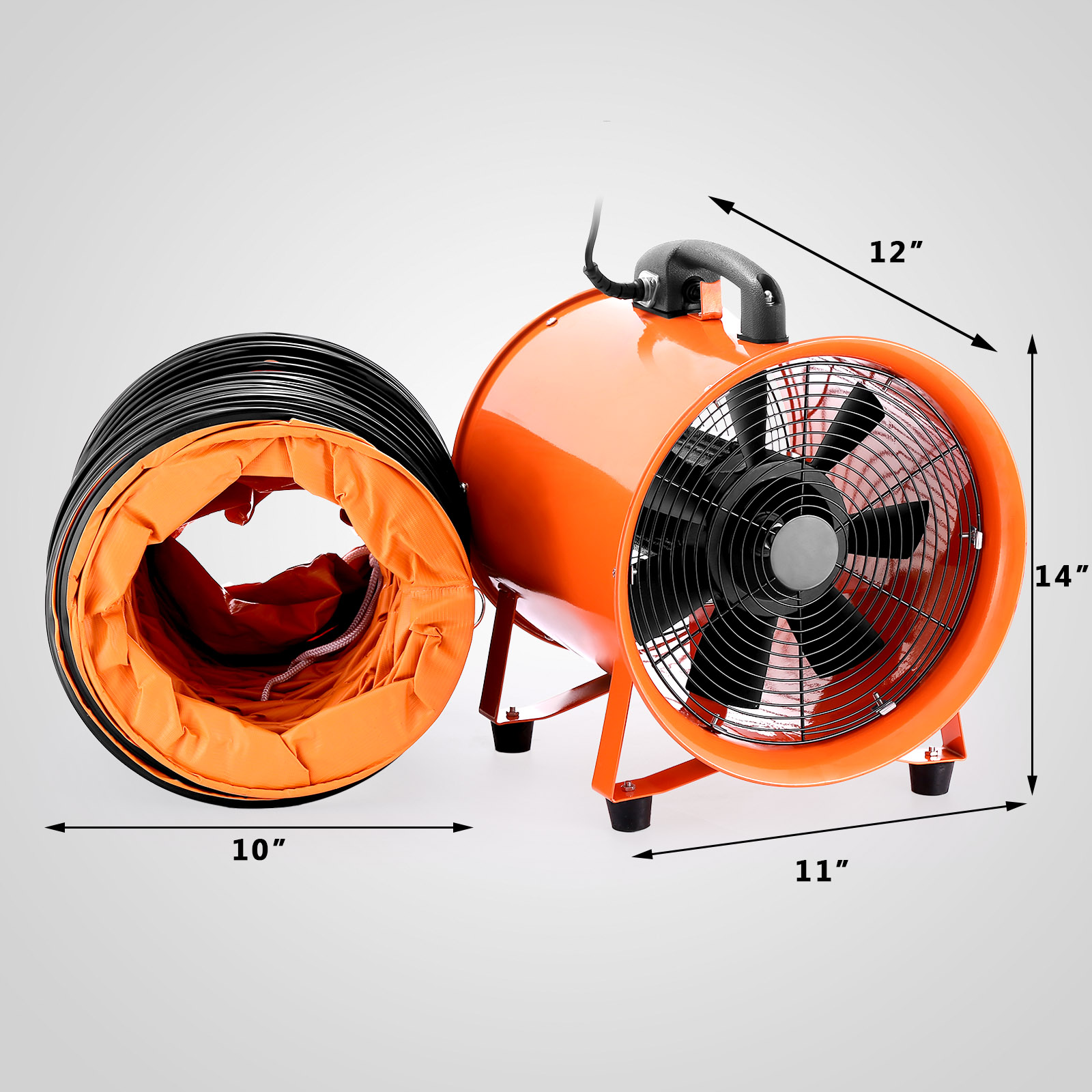 portable ventilation fan for kitchen height of bar stools counter 10 quot industrial ventilator blower duct hose