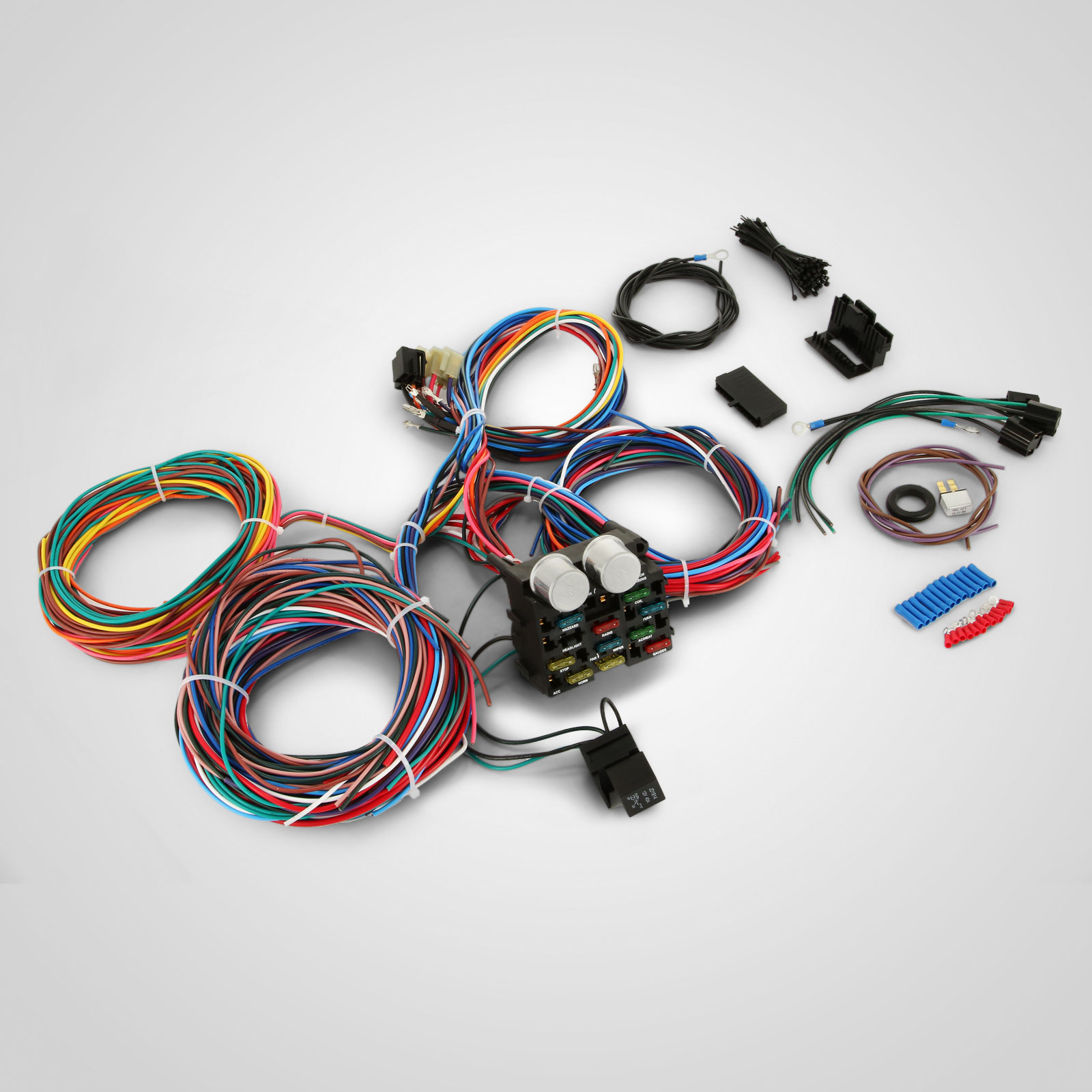 hight resolution of details about pop 12 circuit harness fuse box street hot rat rod wiring car truck new