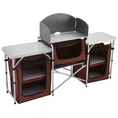 Kitchen Storage Table Cabico Cabinets Camping Cooking Food Prep