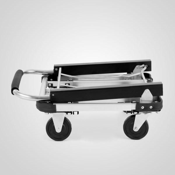 Aluminum Foldable Platform Hand Truck Cart Heavy Duty Folding 330lb Portable