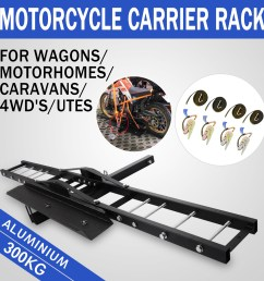 details about 300kg motorcycle carrier hauler hitch mount rack scooter tow bar steel hot [ 1600 x 1600 Pixel ]