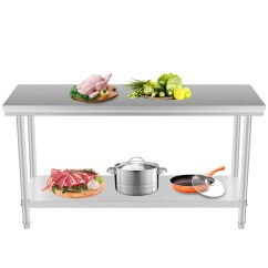 Storage Kitchen Table Decorating Ideas For 24 Quot X 48 Stainless Steel Work Prep
