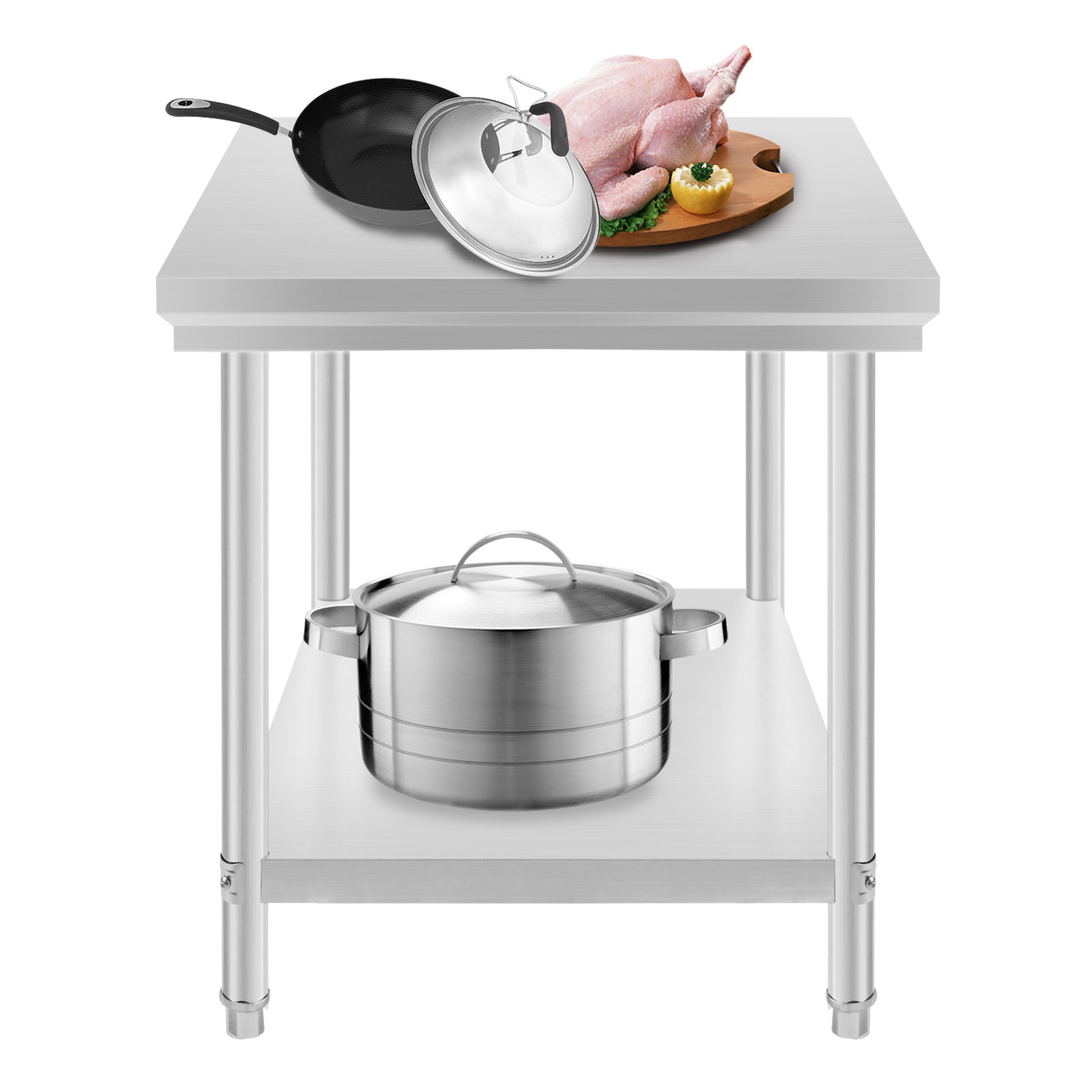 kitchen food preparation table light commercial stainless steel work prep