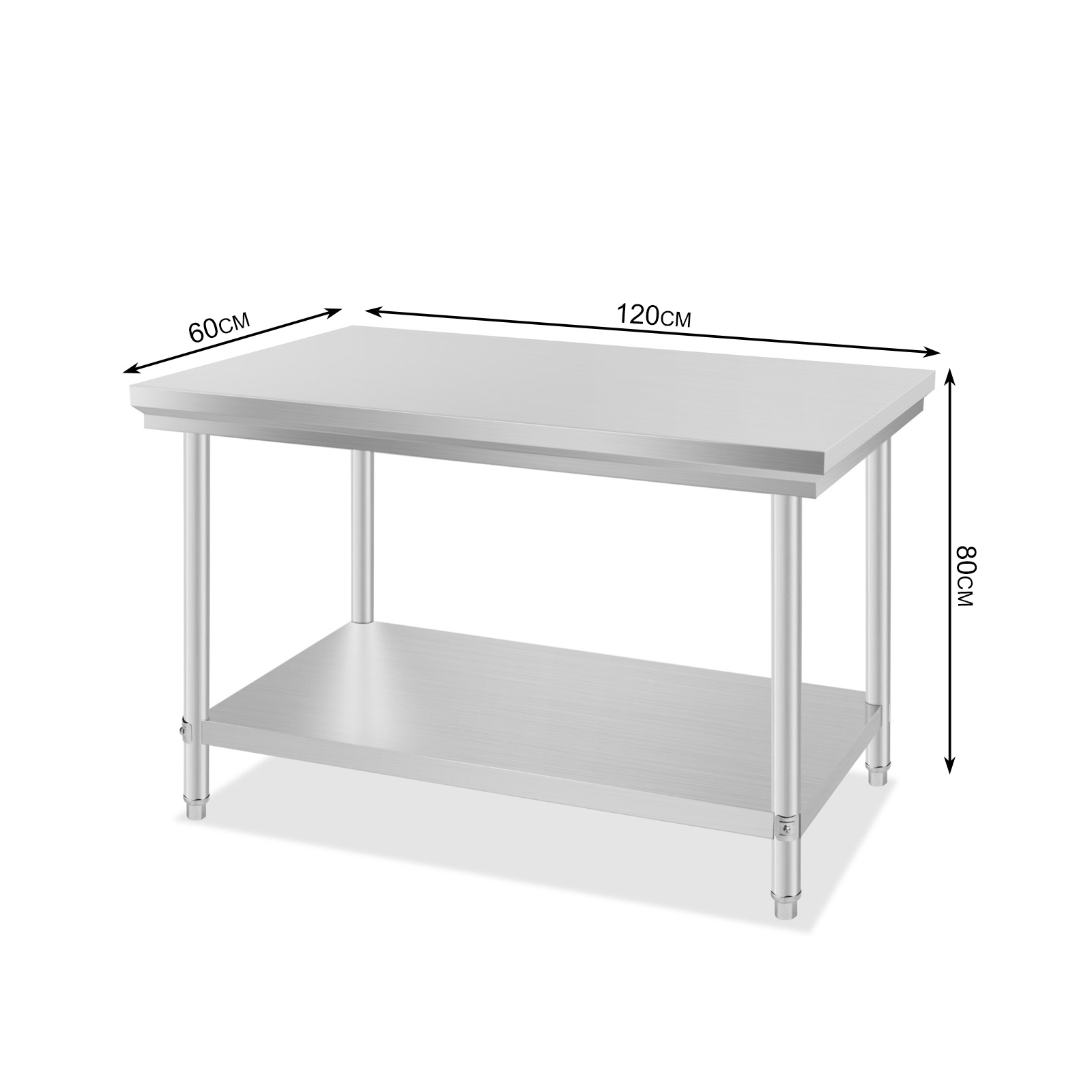 prep tables for kitchen wall mounted faucets commercial stainless steel food work table