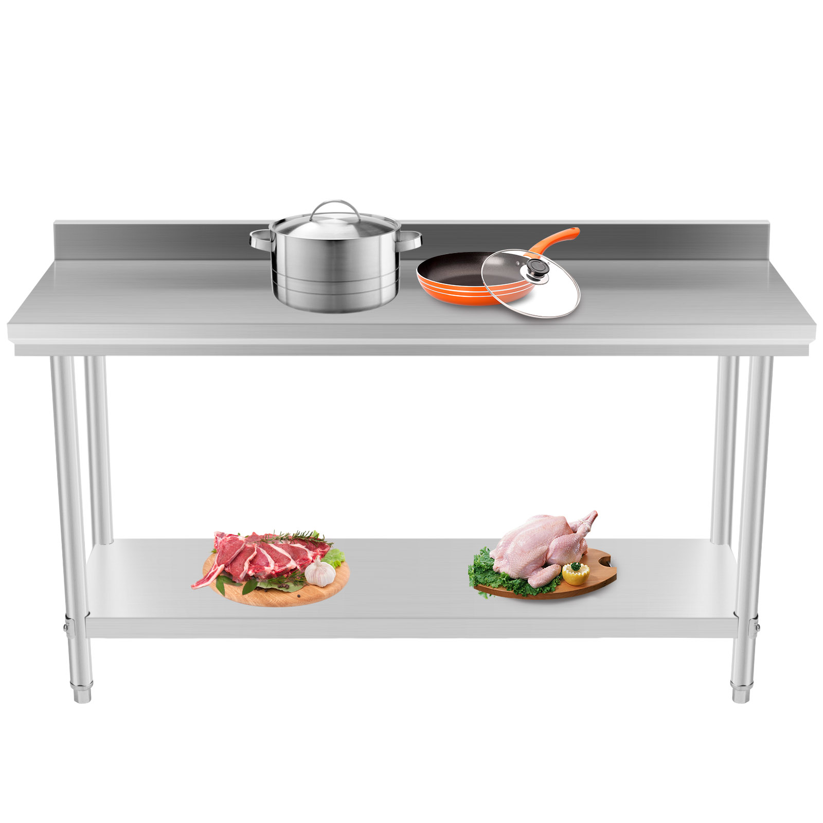 prep tables for kitchen island cost commercial stainless steel work table 24 x 60