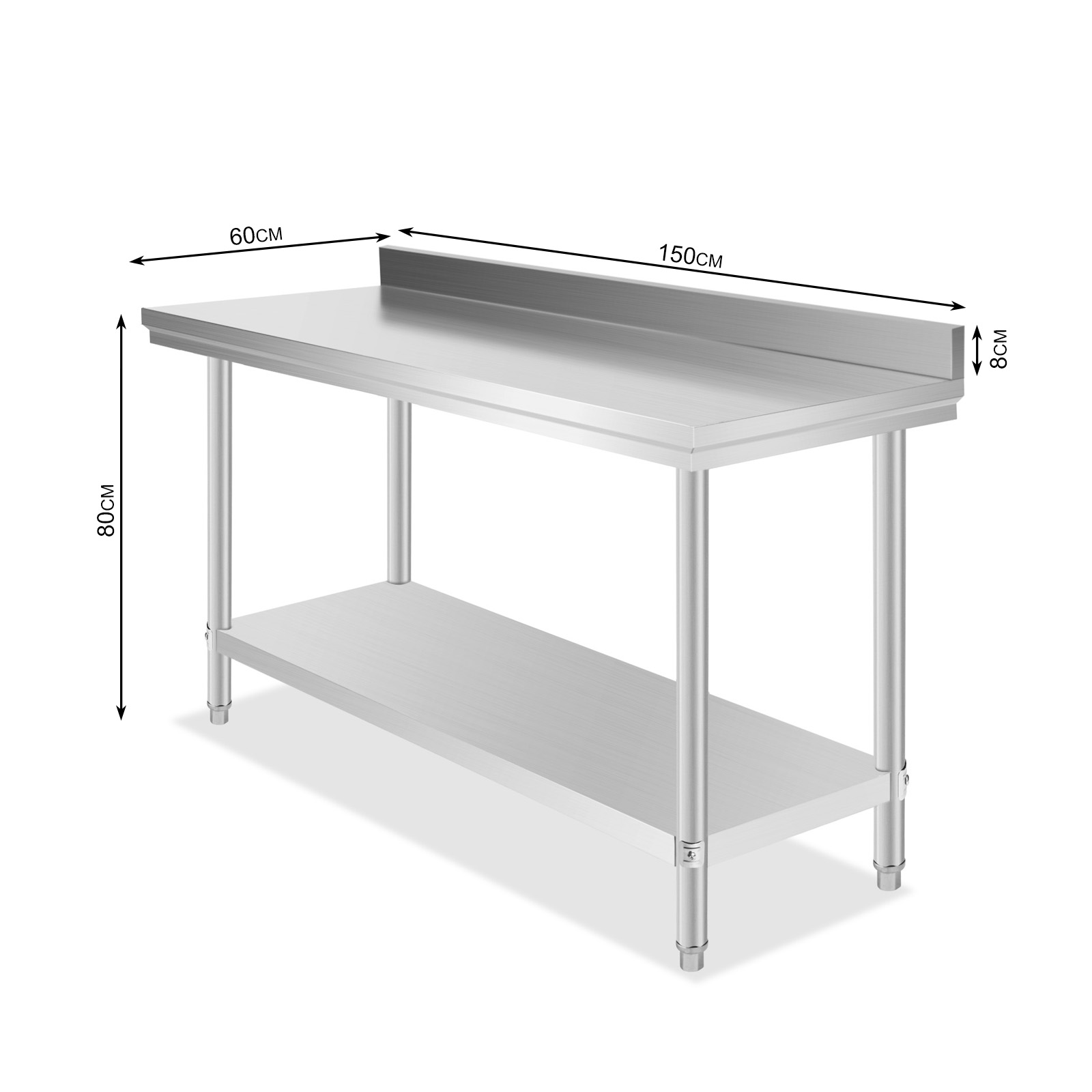 kitchen food preparation table cabinets madison wi commercial stainless steel work prep 60 x 24