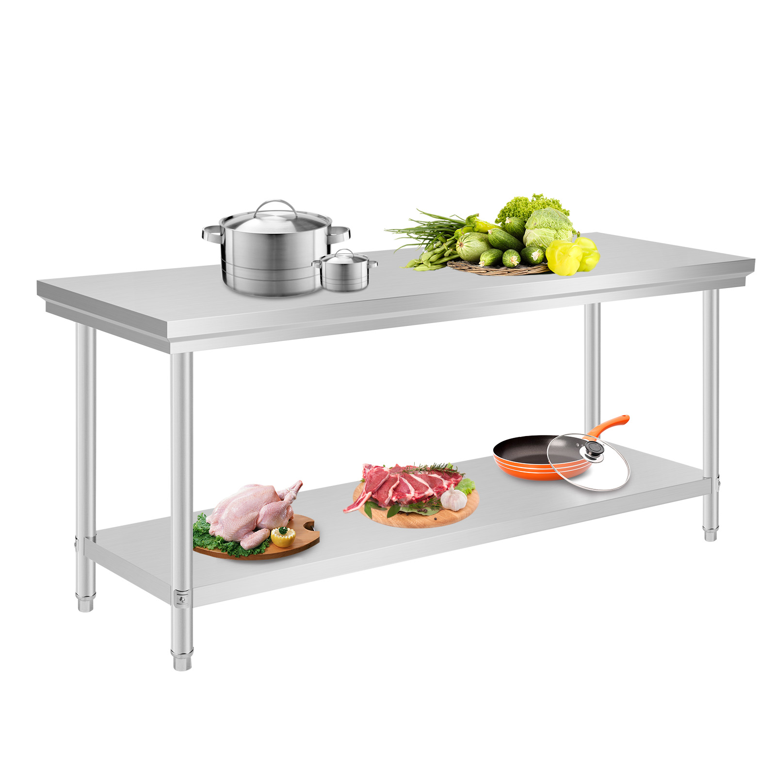 kitchen work tables single hole faucet 201 commercial stainless steel bench top food