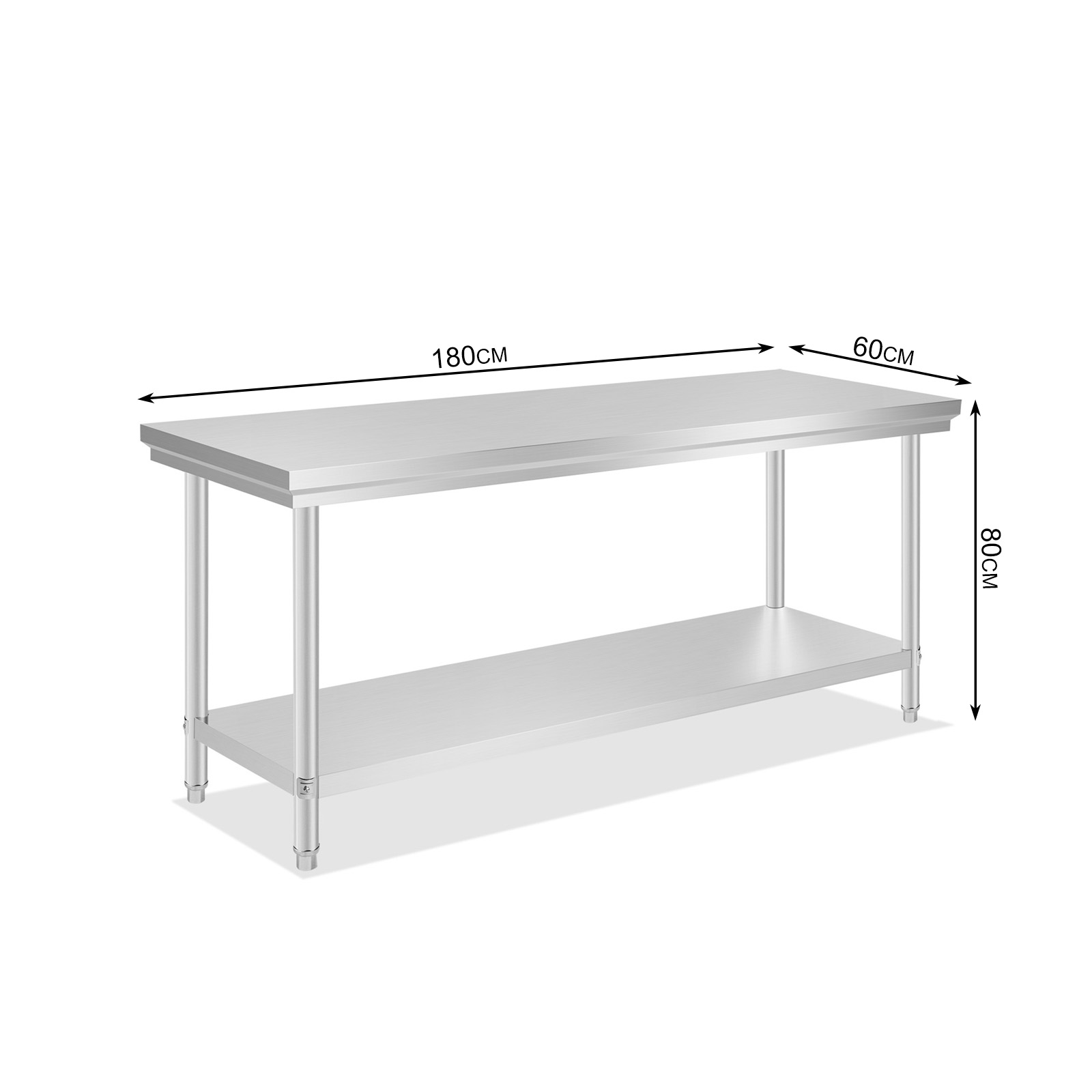 prep tables for kitchen frosted glass doors cabinets vevor new commercial stainless steel food work