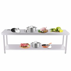 Kitchen Food Preparation Table Bar Counter 201 Commercial Stainless Steel Work Bench Top