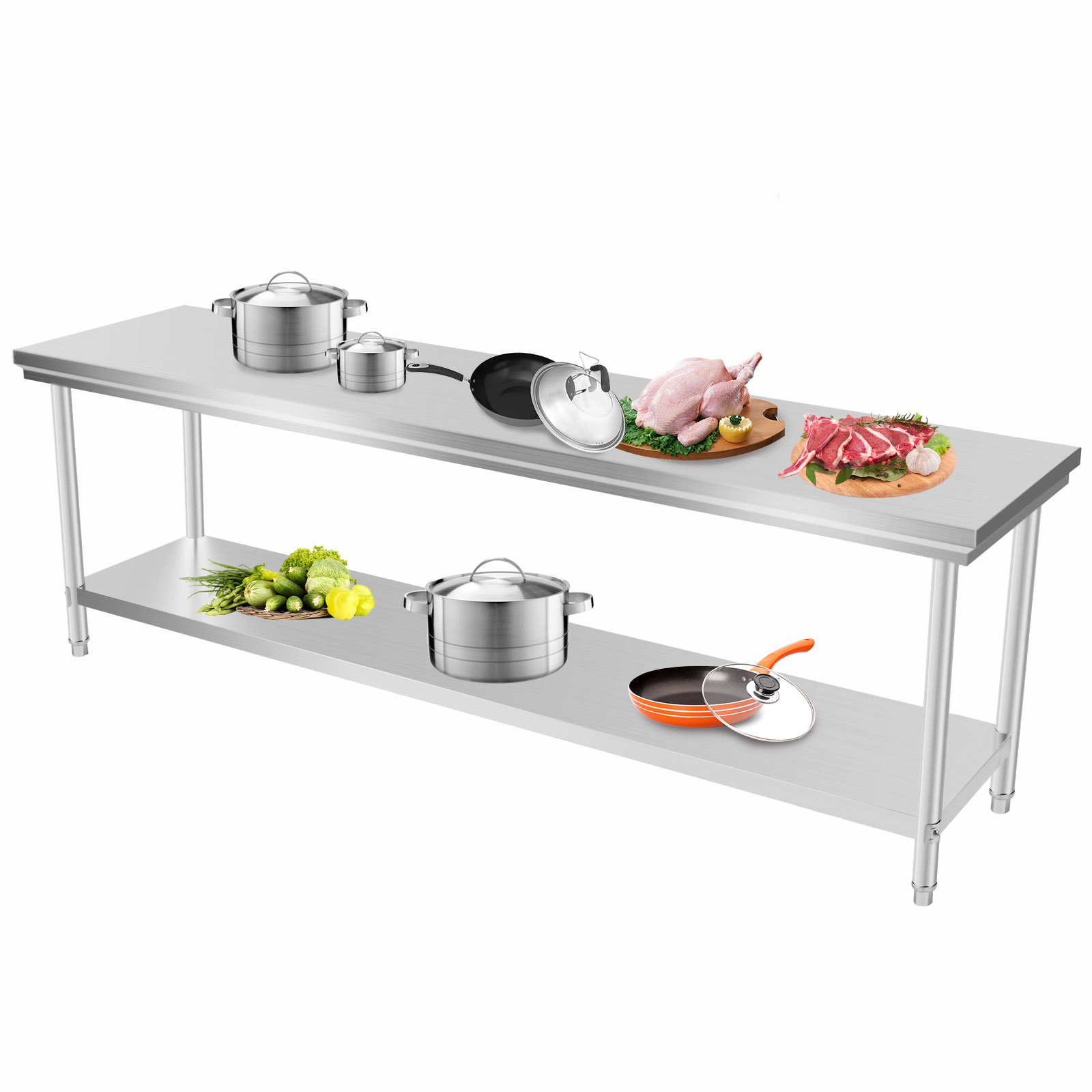 kitchen work tables bistro table 201 commercial stainless steel bench top food