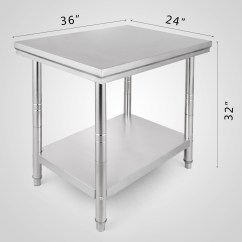 Kitchen Food Preparation Table Bar 610mmx915mm Stainless Steel Work Bench Prep