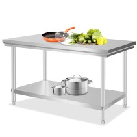 "Stainless Steel Commercial Kitchen Work Prep Table 30"" x ..."