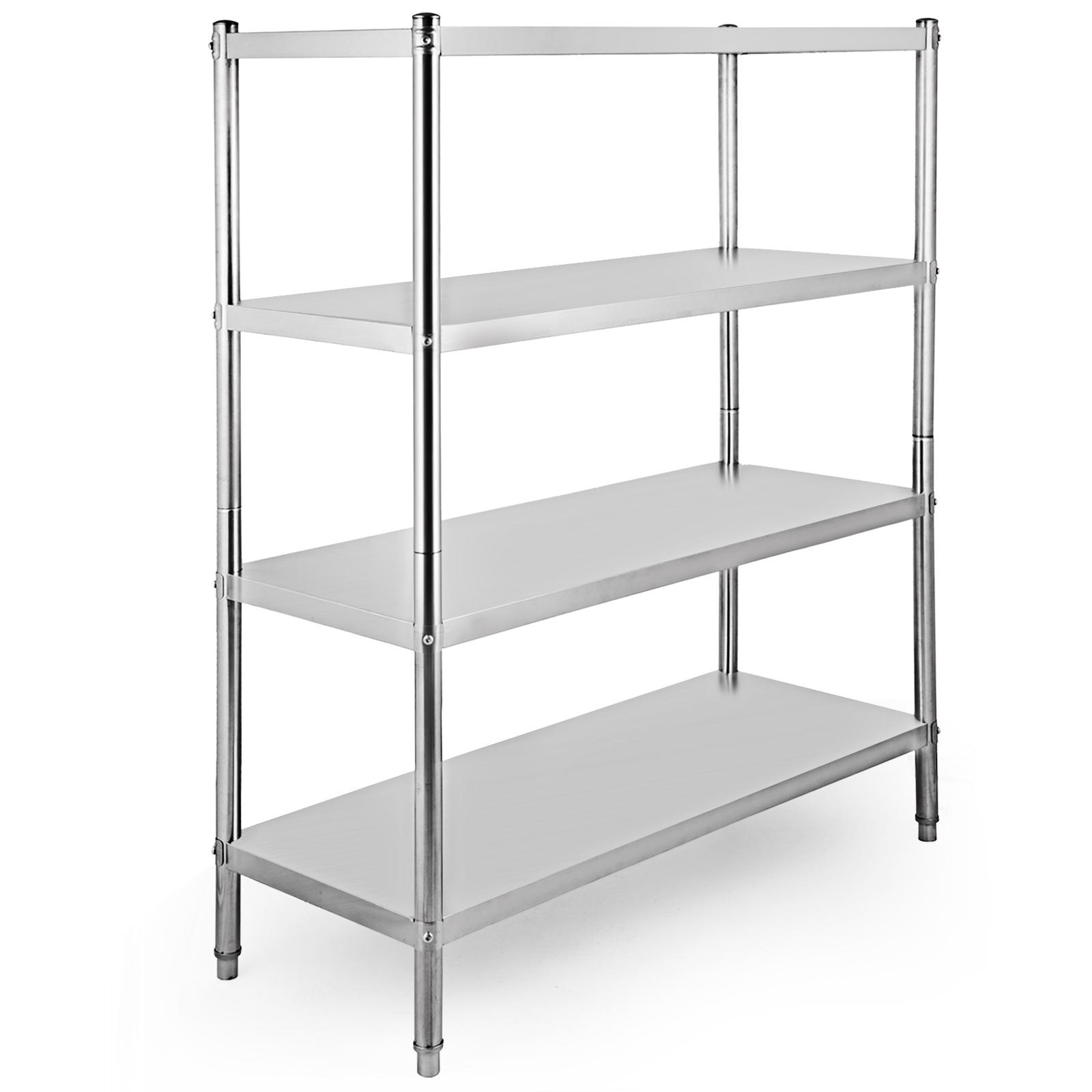 Details About 4 Level Adjustable Heavy Duty Shelves Unit Garage Shelf Steel Metal Storage Rack
