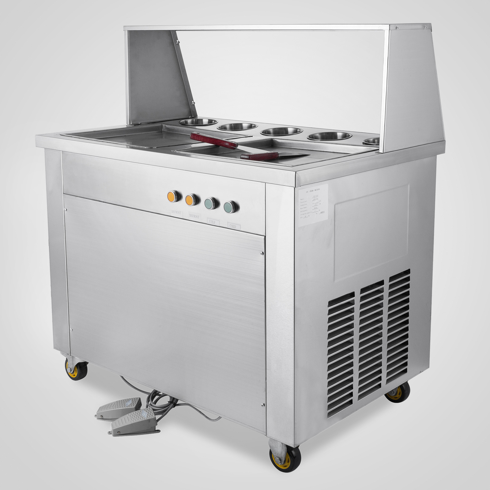 commercial kitchen hot box vanities double pans thai fried ice cream machine